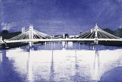 Albert Bridge (After Painting)-Isabel Hutchison-Giclee Print