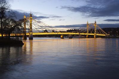 Albert Bridge over the River Thames, Chelsea, London, England, United Kingdom, Europe-Stuart Black-Photographic Print