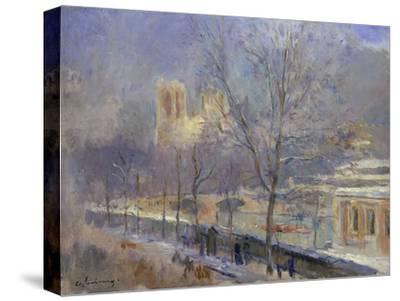 Notre-Dame de Paris Vue du Quai de la Tournelle, Effet de Neige