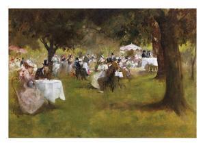A Summer Garder Party by Albert Chevallier Tayler