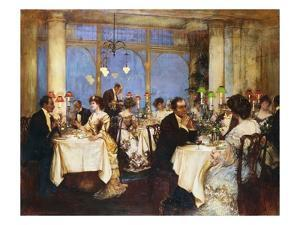 Elegant Soiree by Albert Chevallier Tayler