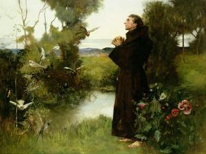 St. Francis, 1898 by Albert Chevallier Tayler