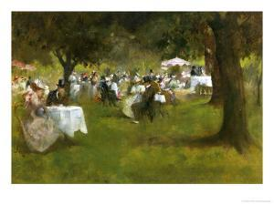 Summer Garden Party by Albert Chevallier Tayler