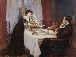 """The Anniversary, """"I Love Thee to the Level of Everyday's Most Quiet Need"""" - Elizabeth Barrett… by Albert Chevallier Tayler"""