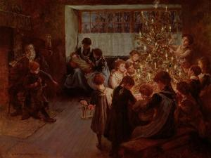 The Christmas Tree, 1911 by Albert Chevallier Tayler