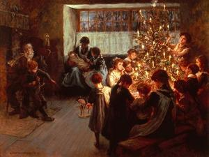 The Christmas Tree by Albert Chevallier Tayler