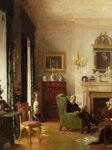 The Grey Drawing Room by Albert Chevallier Tayler