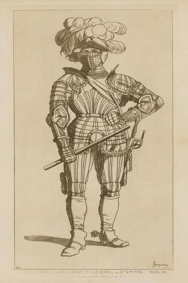 Albert, Count of Wallenstein and General of the Holy Empire, 1629-34-Raphael Jacquemin-Giclee Print