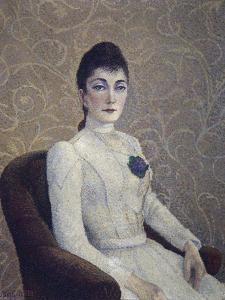 Portrait de jeune fille à la robe blanche by Albert Dubois-Pillet