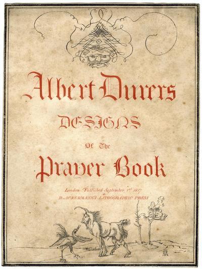 Albert Dürer's Designs for the Prayer Book, 1817-Albrecht Durer-Giclee Print