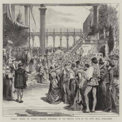 Albert Durer in Venice, Mosque Performed by the Artists' Club at the Town Hall, Dusseldorf--Giclee Print