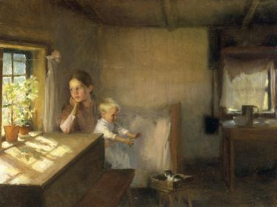 A Woman and Child in a Sunlit Interior, 1889