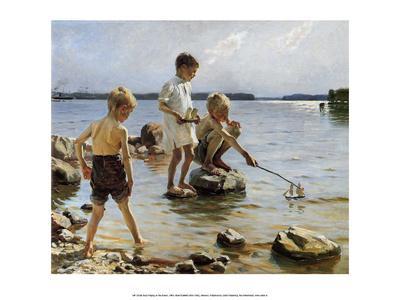 Boys Playing on the Beach, 1884