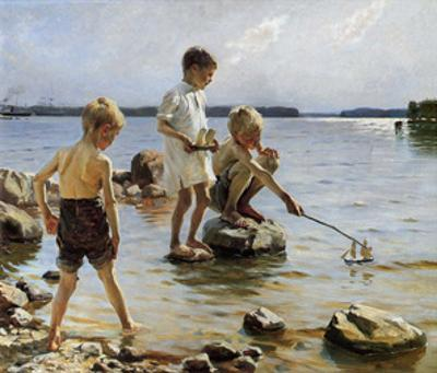 Boys Playing on the Beach, 1884