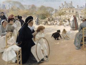 Jardin du Luxembourg (The Luxembourg Gardens), Paris. 1887 by Albert Edelfelt