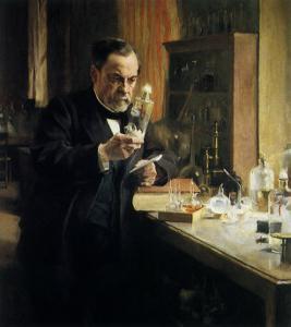 Louis Pasteur in Lab, 1884 by Albert Edelfelt