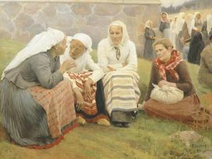 Ruokokoski Women, Finland 19th Century by Albert Edelfelt