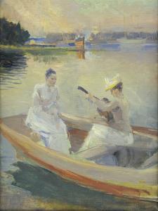 Summer Evening, Borga Harbour. 1889 by Albert Edelfelt