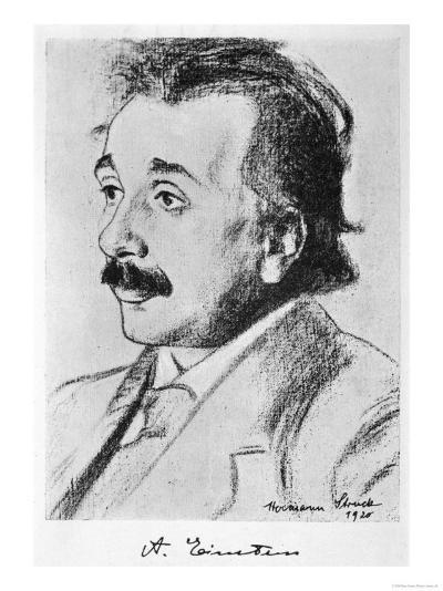 Albert Einstein German Born Physicist in 1920--Giclee Print