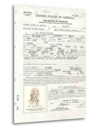 Albert Einstein's Petition for Naturalization