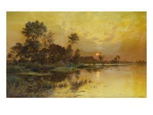 Autumn Evening - Somme Marshes; Soir D'Automne - Marais De La Somme by Albert Gabriel Rigolot