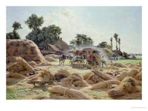The Threshing Machine (Loiret) 1896 by Albert Gabriel Rigolot
