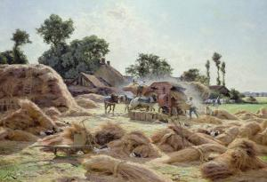 The Threshing Machine (Loiret) 1896 by Albert Gabriel Rigolot