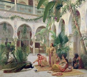 The Court of the Harem by Albert Girard