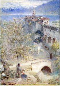Locarno, Lake Maggiore, 1905 by Albert Goodwin