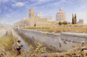 Pisa, 1889 by Albert Goodwin