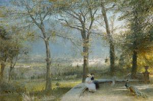 The Gardens, Pallanza, Lago Maggiore by Albert Goodwin