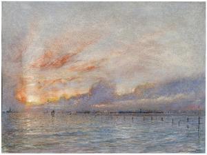 The Lagoons, Venice, 1910 by Albert Goodwin