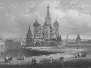 Wassili Blagennoi or the Cathedral of St. Basil Moscow, c1850 by Albert Henry Payne