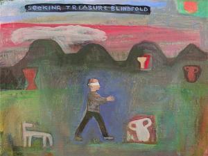 Seeking Treasure Blindfold, 1999 by Albert Herbert
