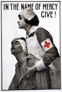 Red Cross Poster, 1917 by Albert Herter