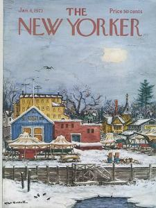 The New Yorker Cover - January 6, 1973 by Albert Hubbell