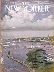 The New Yorker Cover - June 13, 1964 by Albert Hubbell