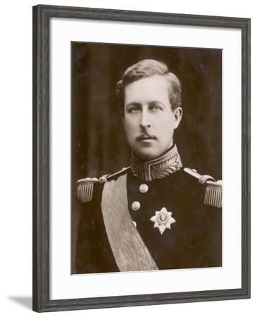 Albert I King of Belgium--Framed Photographic Print