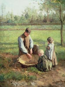 Watching Father Work by Albert Jan Neuhuys