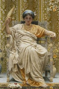 A Revery- a Look of Sadness on a Restful Face - She Hath No Cares - a Thing Hereditary in the… by Albert Joseph Moore