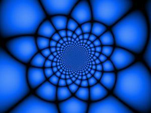 Abstract Blue Fractal Design by Albert Klein