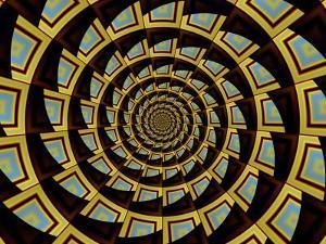 Abstract Circular Fractal Design by Albert Klein