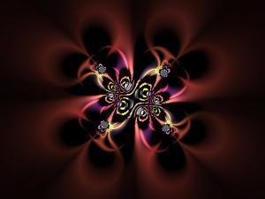 Abstract Fractal Design on Dark Background by Albert Klein