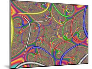Abstract Fractal Design with Multi-Coloured Patterns and Shapes by Albert Klein