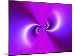 Abstract Fractal Pattern in Purple by Albert Klein