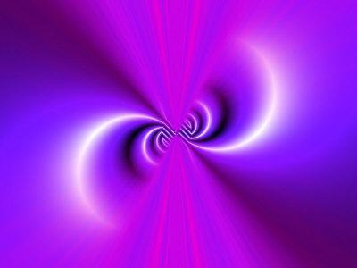 Abstract Fractal Pattern in Purple