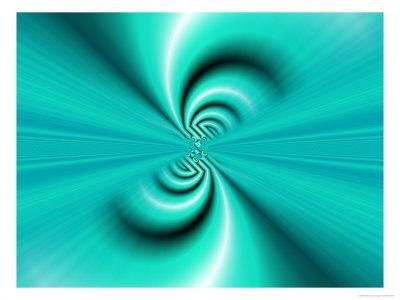 Abstract Fractal Pattern in Turquoise