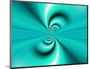 Abstract Fractal Pattern in Turquoise by Albert Klein