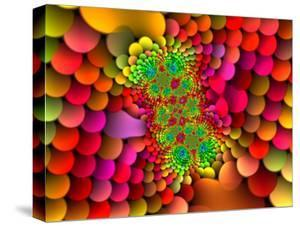 Abstract Multi-Coloured Fractal Design by Albert Klein