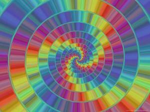 Abstract Multi-Coloured Spiral Design by Albert Klein